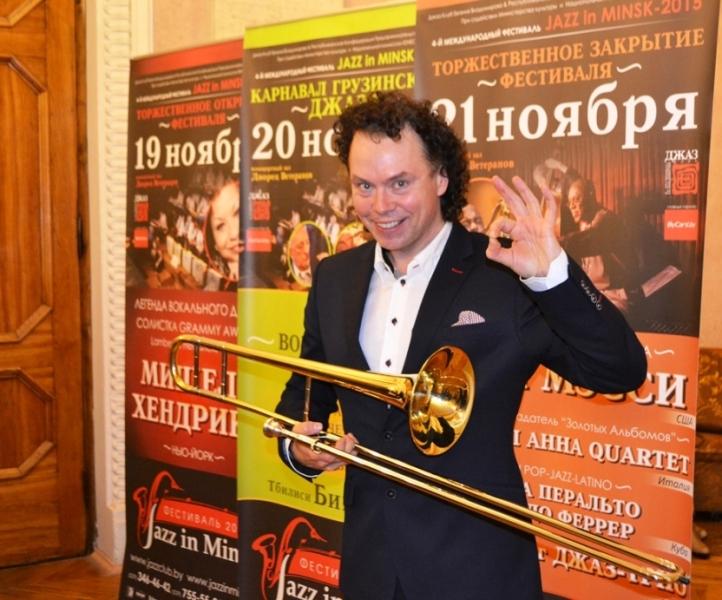 Евгений Владимиров- джаз тромбонист, директор ДЖАЗ в МИНСКЕ JAZZinMINSK, ,21/10/2015
