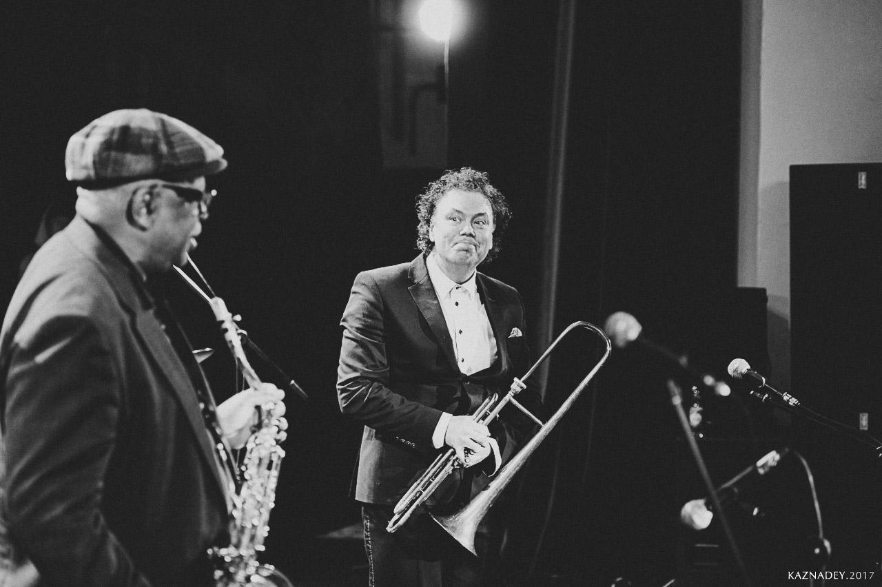 Евгений Владимиров -тромбон и Bill Saxton-саксофон, Джаз в Минске jazzinminsk