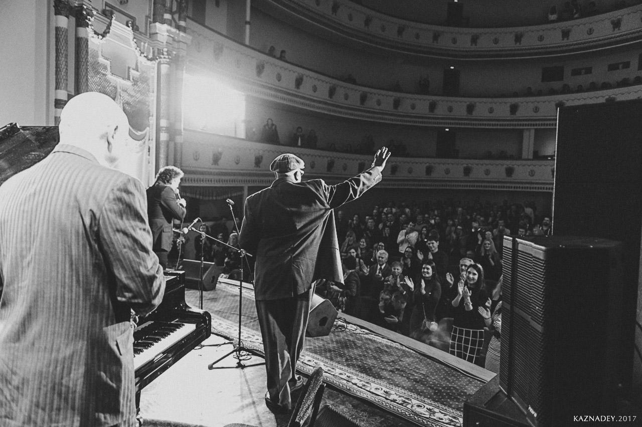 Джаз в Минске 2 марта 2017 г. Jazz in Minsk, организатор Евгений Владимров Джаз-клуб www,jazzclyb.by ,БИЛЛ САКСТОН и Евгений Владимиров