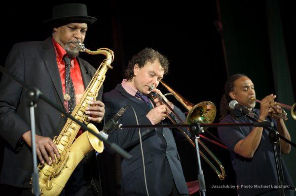 Евгений Владимиров, Gary Detroit Wiggins, Ronald Baker на джаз - фестивале в Минске JazzinMinsk-2016