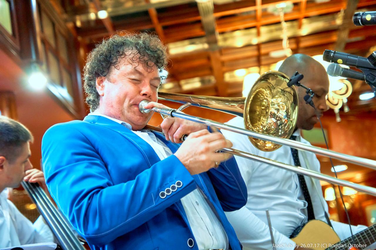 Евгений Владимиров джазовый белорусский тромбонист на концерте Джаз в Минске jazzinminsk