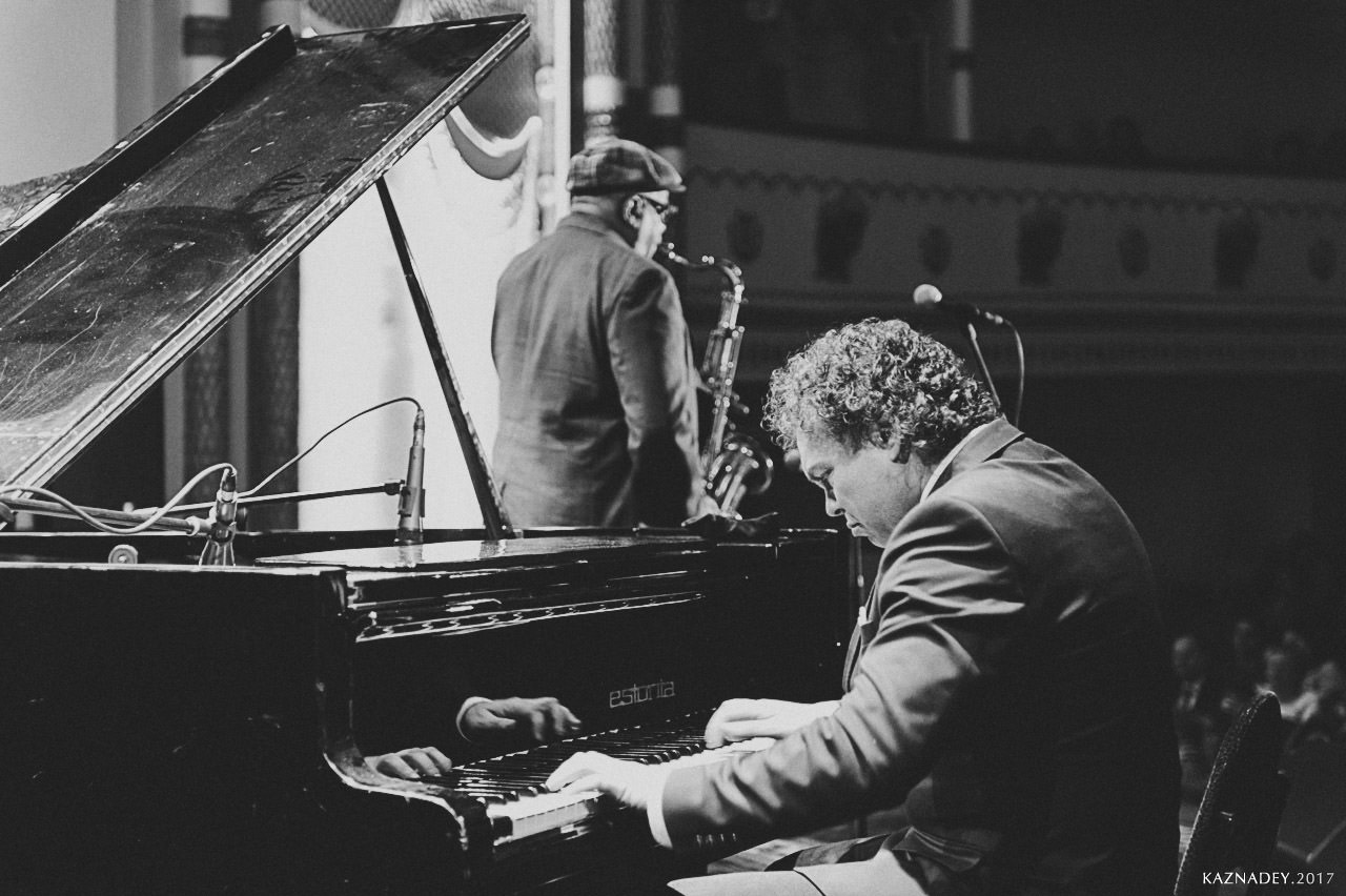 Евгений Владимиров и Bill Saxton, концерт ДЖАЗ в МИНСКЕ JAZZinMINSK во Дворце Профсоюзов