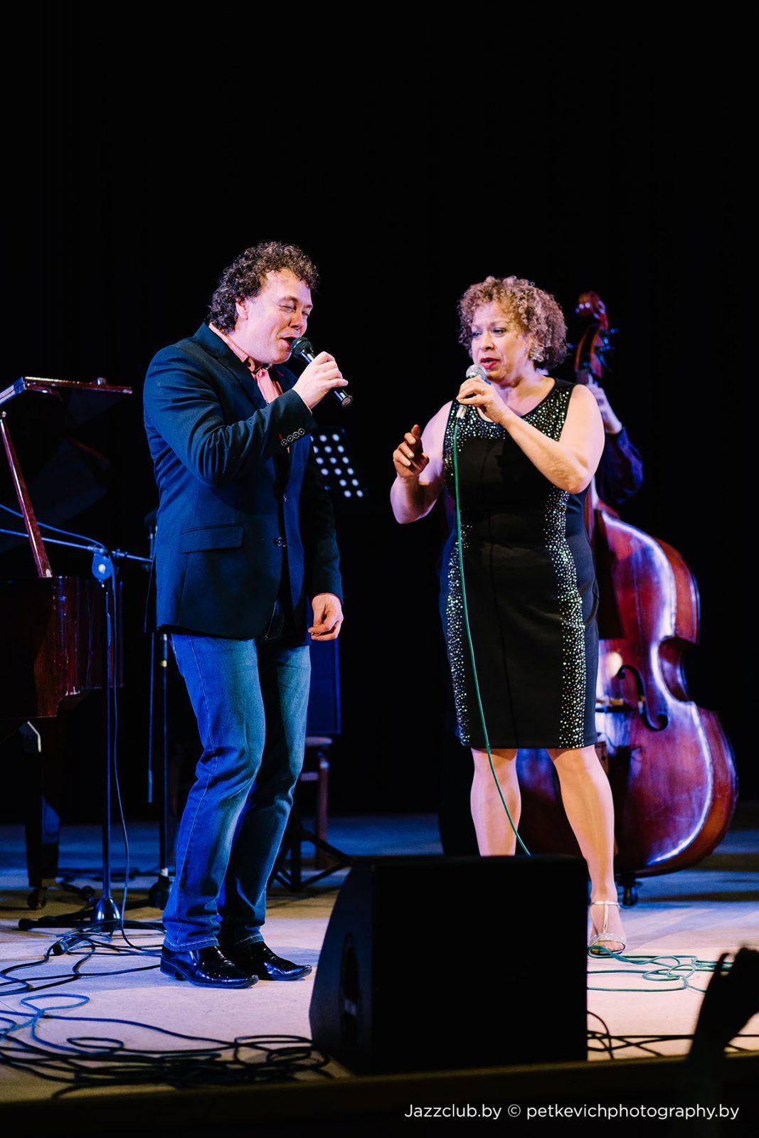Евгений Владимиров и Michele Hendricks на концерте ДЖАЗ в МИНСКЕ JazzInMinsk-2015