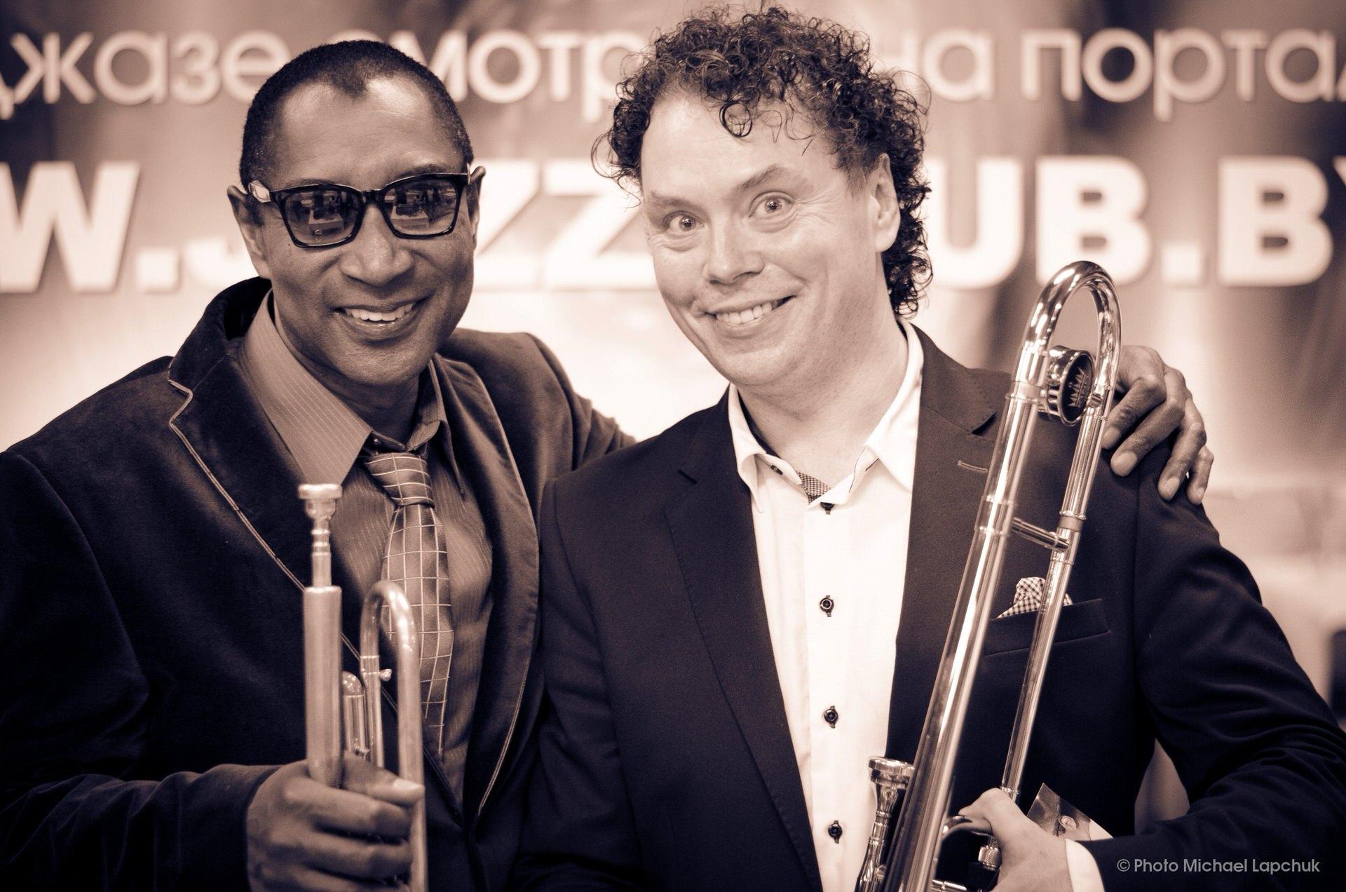 Джаз в Минске - JazzinMinsk: Евгений Владимиров и Michael Patches Stewart на концерте в Белорусском Джаз-Клубе