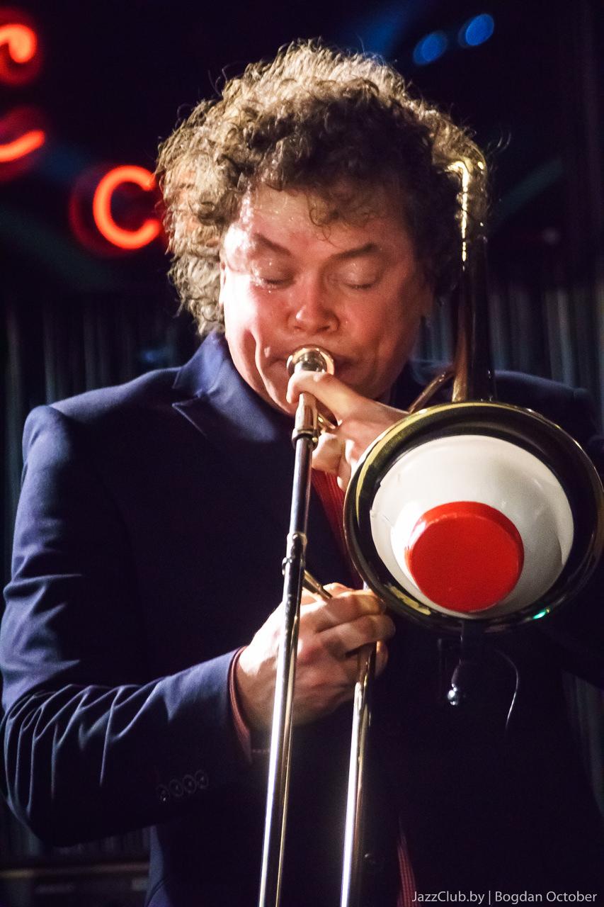 Евгений Владимиров - джазовый тромбонист выступил в Минске в Джаз-Клубе JazzinMinsk в феврале 2015 года