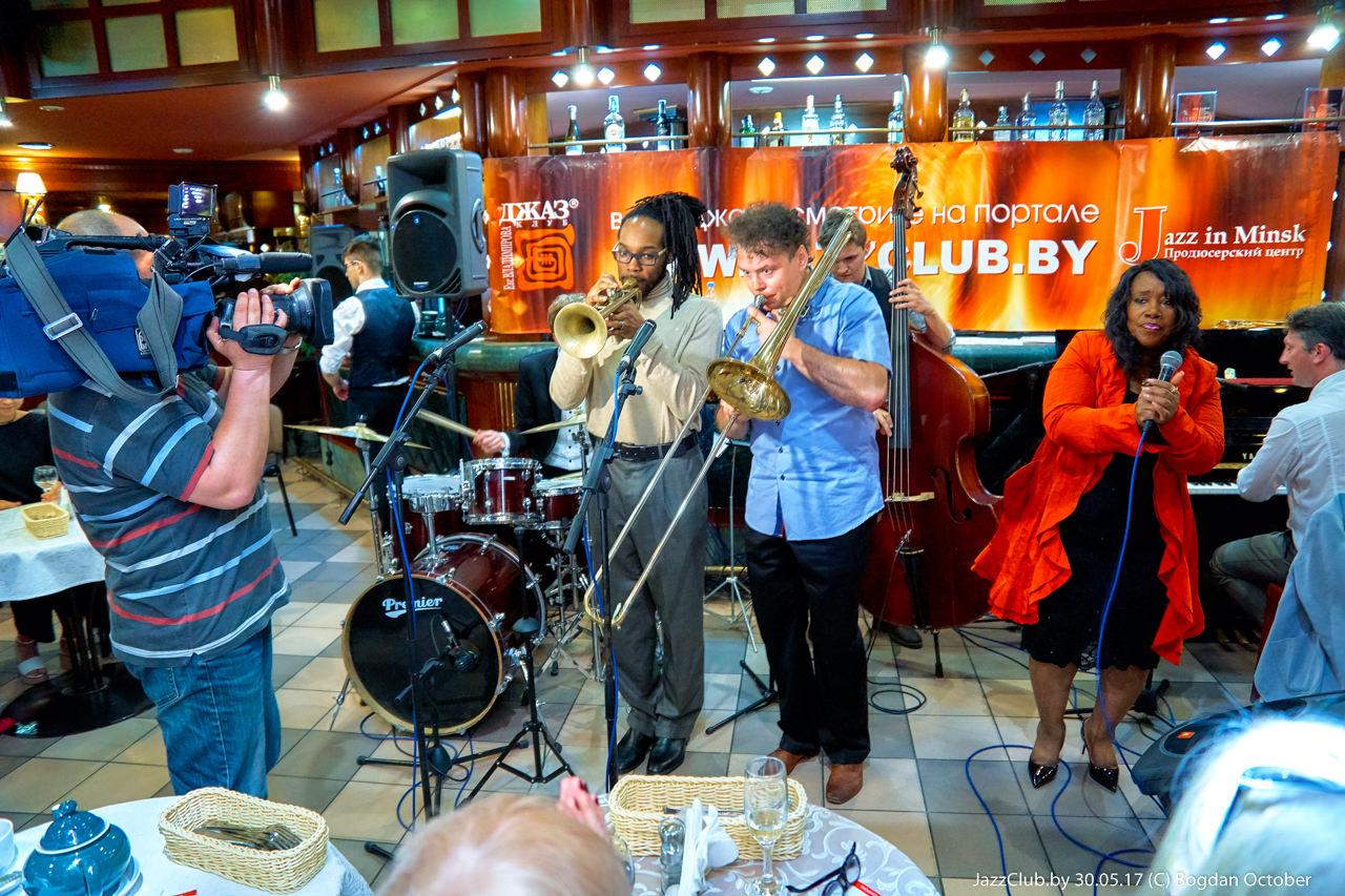 ДЖАЗ в МИНСКЕ: Евгений Владимиров - Jossiah Woodson -Denise King в Джаз-Клубе Jazz in Minsk 08/04/2017